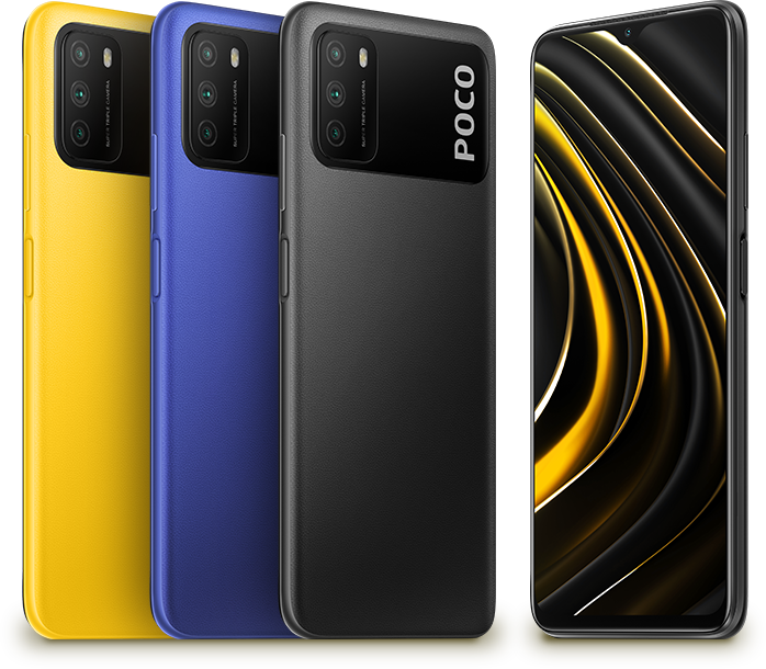 Das Poco M3 ist in drei Farben erhältlich.